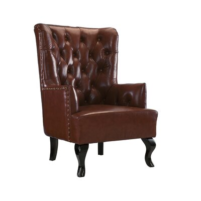 Westbury Park Tufted Armchair Upholstery: Dark Brown