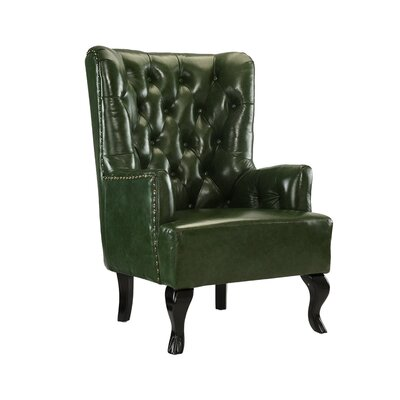 Westbury Park Tufted Armchair Upholstery: Green
