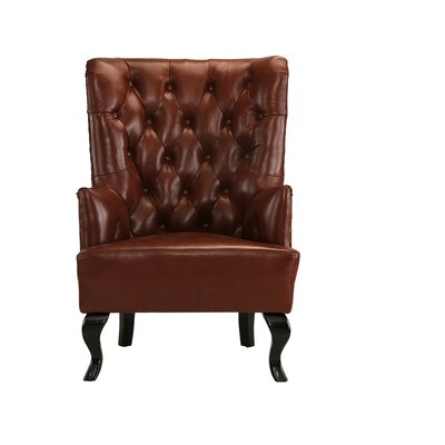 Westbury Park Tufted Armchair Upholstery: Light Brown