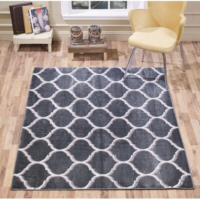 Waymire Ogee Gray Area Rug Rug Size: Rectangle 8 x 10