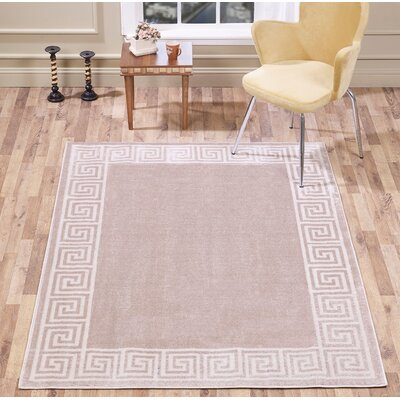 Jarnagin Border Beige Area Rug Rug Size: Rectangle 8 x 10