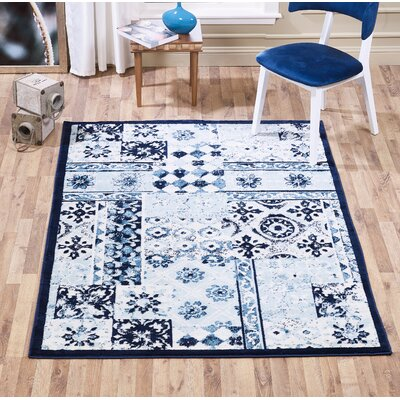 Mcmillen Patchwork Blue Area Rug Rug Size: Rectangle 2 x 3
