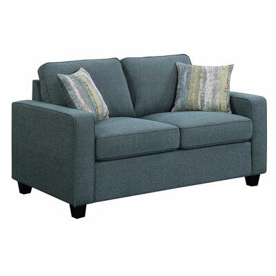 Mcdavid Upholstered Loveseat Upholstery: Blue