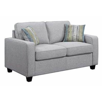 Mcdavid Upholstered Loveseat Upholstery: Gray