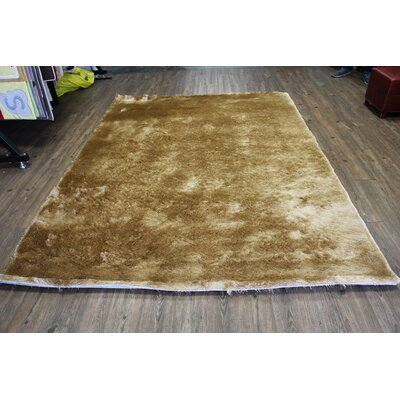 Vickrey Plush Hand-Tufted Dark Beige Area Rug