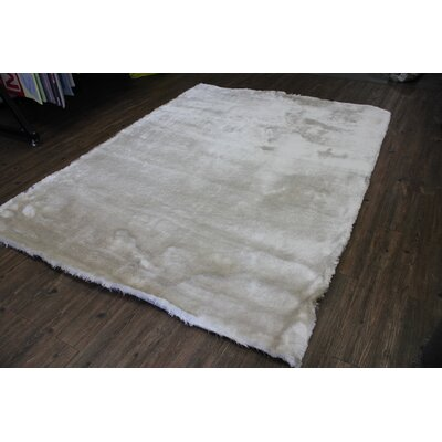 Vickrey Plush Hand-Tufted Ivory Area Rug
