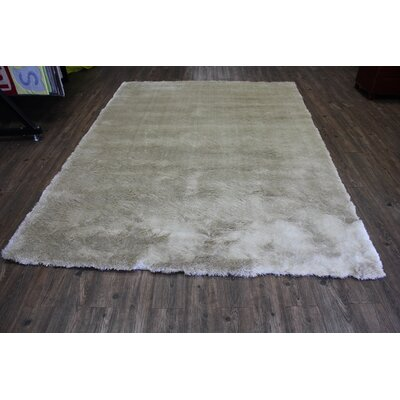 Vickrey Plush Hand-Tufted Beige Area Rug