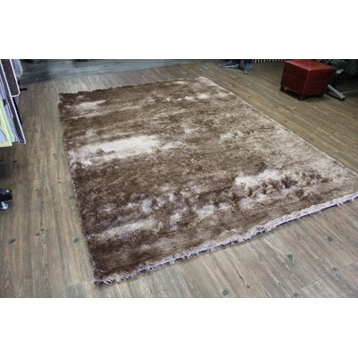 Vickrey Plush Hand-Tufted Brown Area Rug