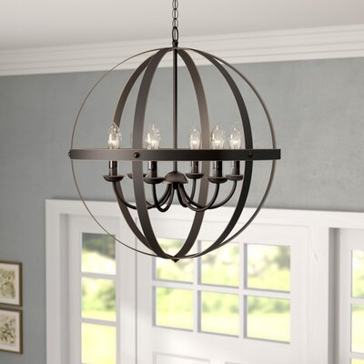 Genna 6-Light Candle-Style Chandelier