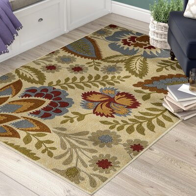 Russellville Beige Area Rug Rug Size: Rectangle 5 x 7