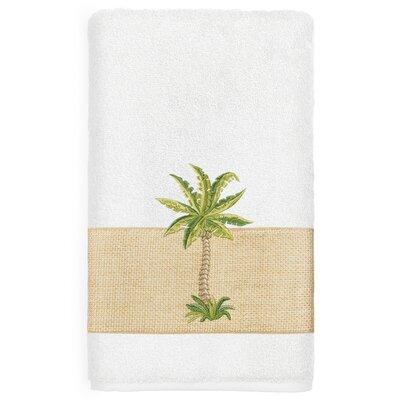 Mcleod 100% Turkish Cotton Embellished Bath Towel Color: White