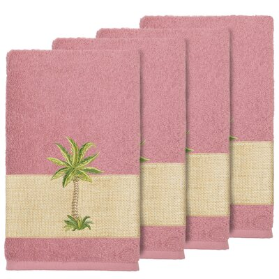 Krupa 100% Turkish Cotton Embellished Bath Towel Color: Tea Rose