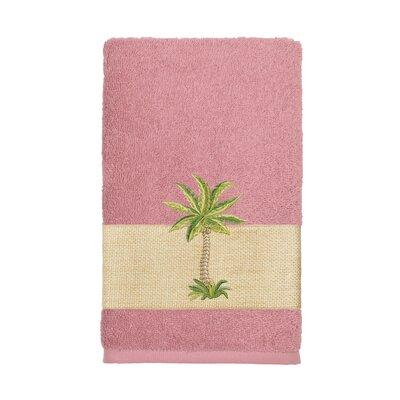 Mcleod 100% Turkish Cotton Embellished Hand Towel Color: Tea Rose