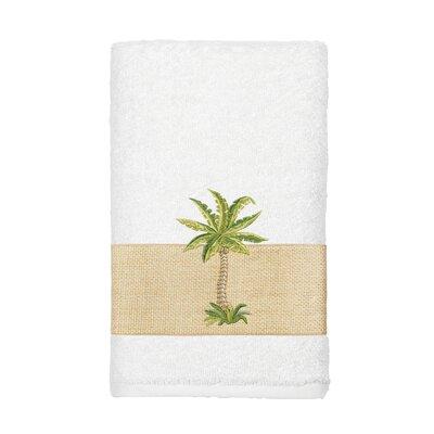 Mcleod 100% Turkish Cotton Embellished Hand Towel Color: White