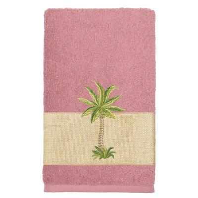 Mcleod 100% Turkish Cotton Embellished Bath Towel Color: Tea Rose
