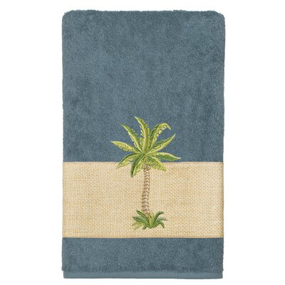 Mcleod 100% Turkish Cotton Embellished Bath Towel Color: Teal