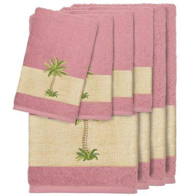 Krupa 100% Turkish Cotton Embellished 8 Piece Towel Set Color: Tea Rose