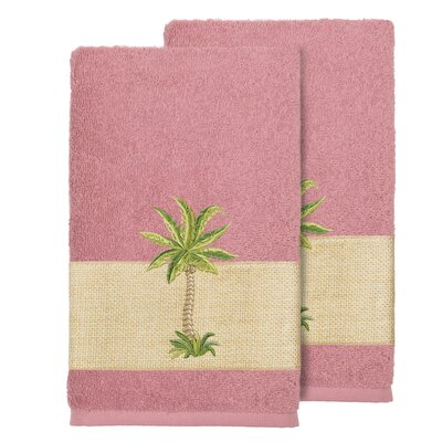 Mcleod 100% Turkish Cotton Embellished Bath Towel Color: Tea Rose