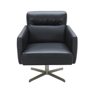Liner Swivel Lounge Chair Upholstery: Black