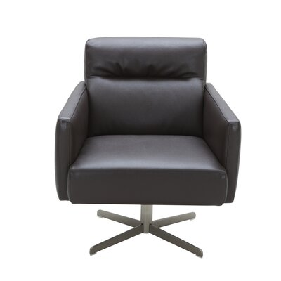 Liner Swivel Lounge Chair Upholstery: Brown