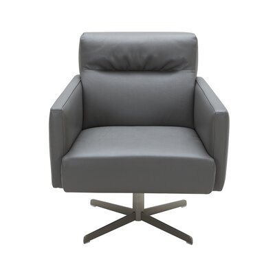 Liner Swivel Lounge Chair Upholstery: Gray