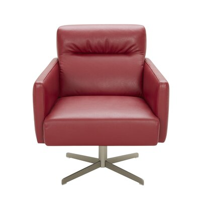Liner Swivel Lounge Chair Upholstery: Red