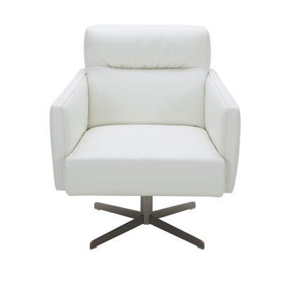 Liner Swivel Lounge Chair Upholstery: White