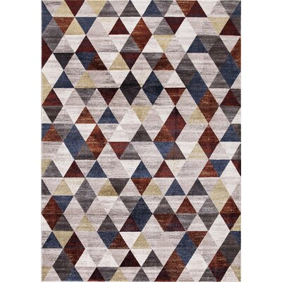 Aaron Diamond Red Area Rug Rug Size: Rectangle 53 x 73
