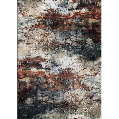 Pleasant Avenue Red Area Rug Rug Size: Rectangle 93 x 123