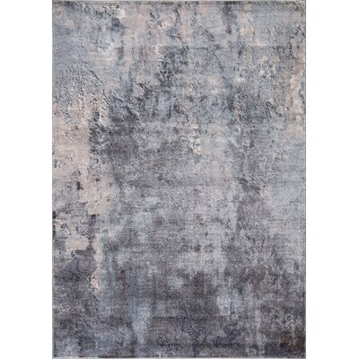 Mcgrane Abstract Blue Area Rug Rug Size: Rectangle 93 x 123