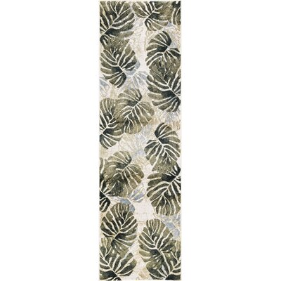 Skeen Tropical Ivory Area Rug Rug Size: Runner  2 x 73