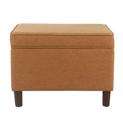 Kelemen Storage Ottoman Upholstery: Orange