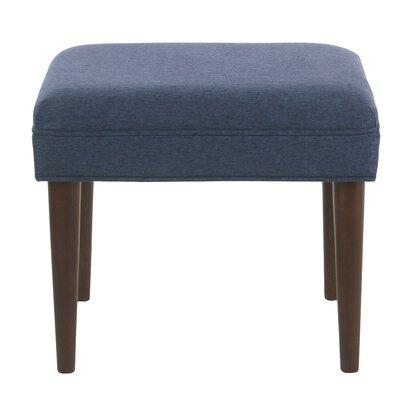 Kelch Modern Ottoman Upholstery: Blue