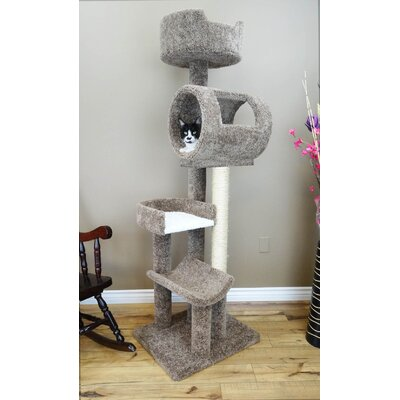 Climbing Tower Cat Condo Color: Brown