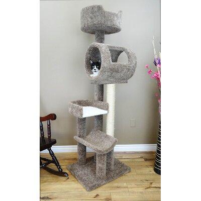 Climbing Tower Cat Condo Color: Brown
