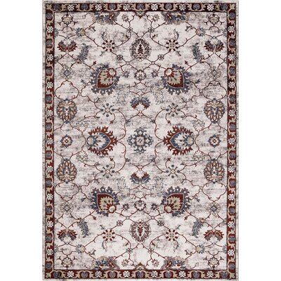 Reames Mahal Red Area Rug Rug Size: Rectangle 53 x 73