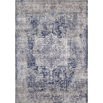 Pleasant Avenue Heriz Blue Area Rug Rug Size: Rectangle 53 x 73
