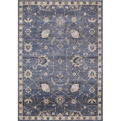 Reames Mahal Navy Area Rug Rug Size: Rectangle 93 x 123