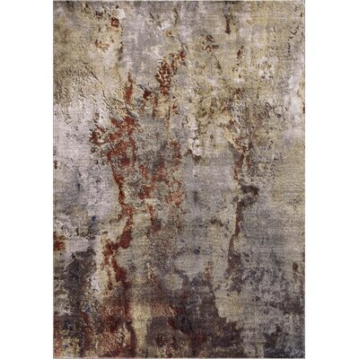 Olympus Abstract Red Area Rug Rug Size: Rectangle 93 x 123