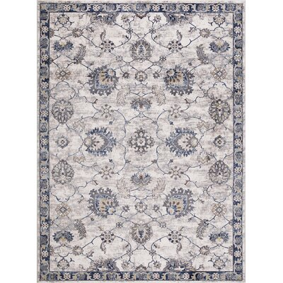 Reames Mahal Blue Area Rug Rug Size: Rectangle 67 x 93