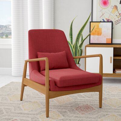 Ayleen Armchair Upholstery: Red