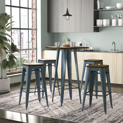 Racheal Loft 5 Piece Dining Set Color: Rustic Gunmetal