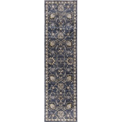 Reames Mahal Navy Area Rug Rug Size: Runner  2 x 73