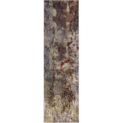 Olympus Abstract Red Area Rug Rug Size: Runner  2 x 73