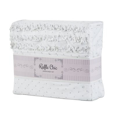 Missy Dot Microfiber Sheet Set Size: Queen