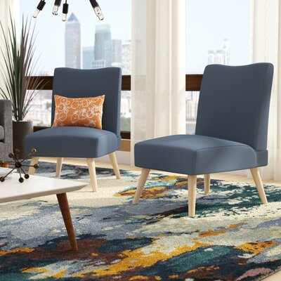 Waldrup Slipper Chair Upholstery: Midnight
