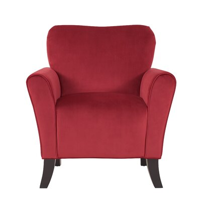 Kiker Arm Chair Upholstery: Ruby Red