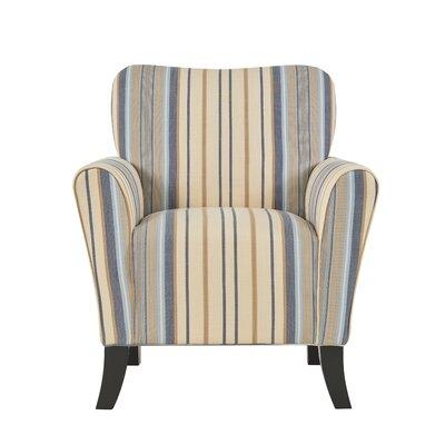 Kiker Arm Chair Upholstery: Blue Stripe