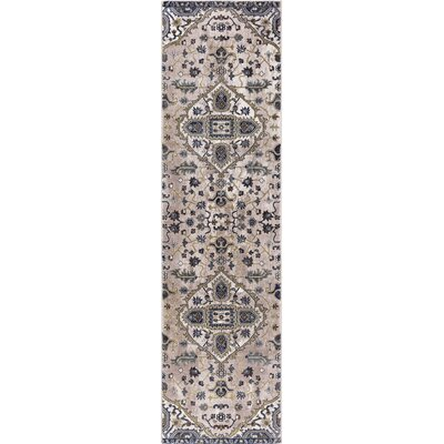 Pleasant Avenue Medallion Ivory Area Rug Rug Size: Runner  2 x 73