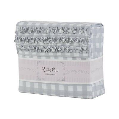 Cammy Gingham Microfiber Sheet Set Size: King